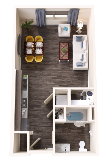 A Agate unit with Studio Bedrooms and 1 Bathrooms with area of 539 sq. ft