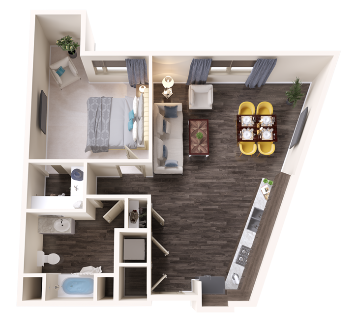 A Onyx unit with 1 Bedrooms and 1 Bathrooms with area of 880 sq. ft