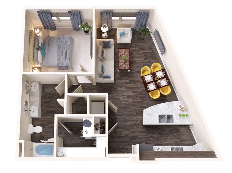 A Opal unit with 1 Bedrooms and 1 Bathrooms with area of 839 sq. ft